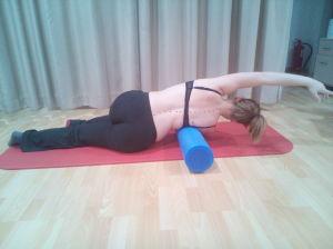 Corrección de la curva dorsal escoliotica con Foam roller