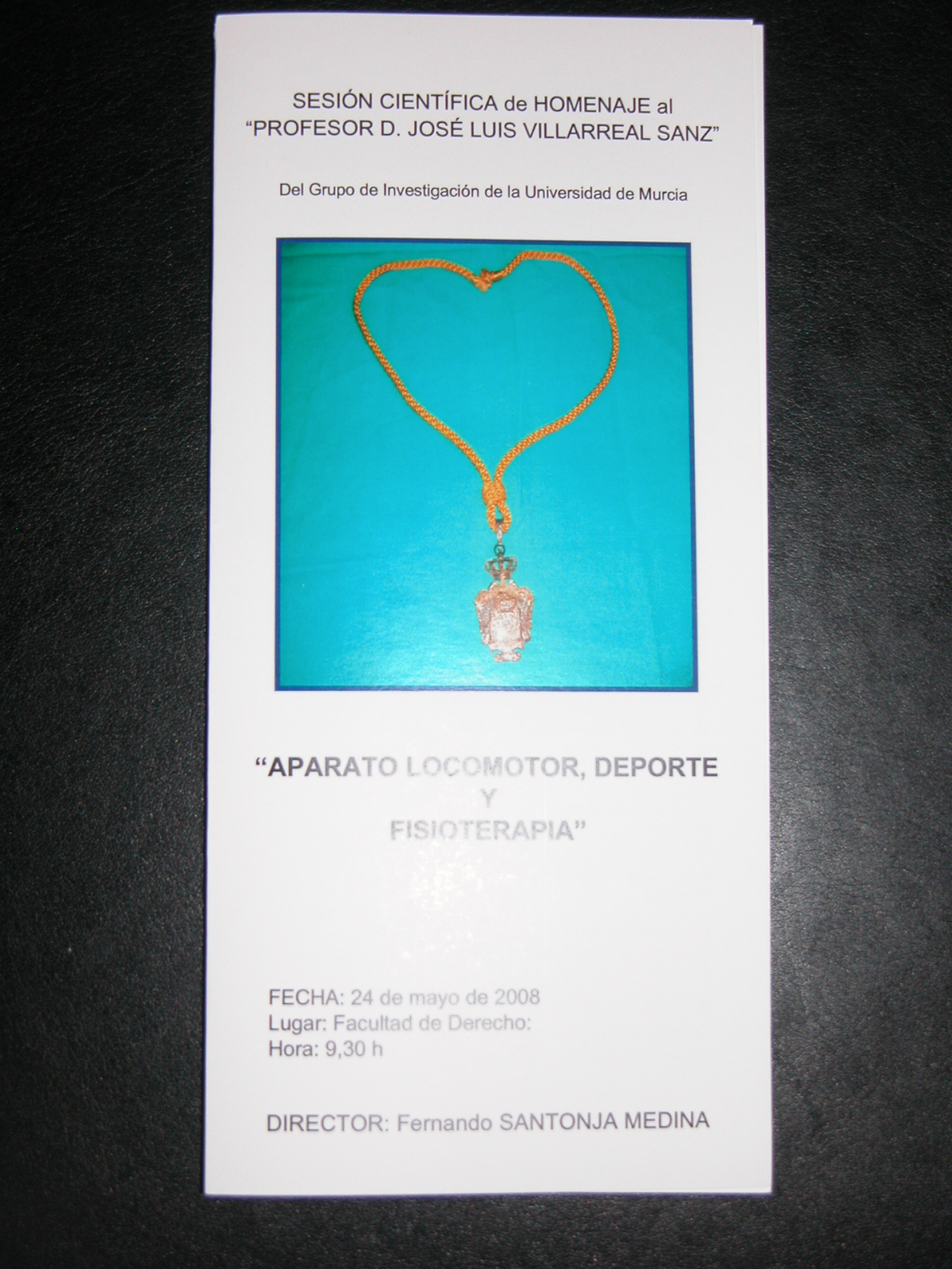 Programa del Homenaje (24-5-2008)