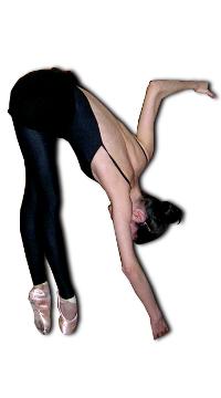 """Fig. 74.– """"Soupleses"""" en puntas. La postura de toda la columna vertebral en máxima flexión es perfecta."""
