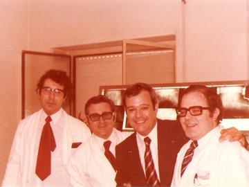 Primeros miembros del Servicio de Traumatología de la Arrixaca.