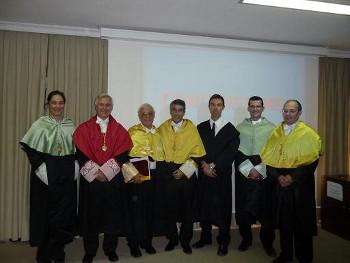 Miembros del tribunal, nuevo doctor (David Segura) y director de la tesis.