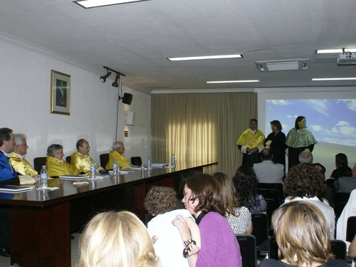 Disertación final de los directores en la Tesis de Pilar Andújar.