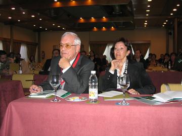 El Prof. Villarreal y su esposa la Dra. Estrella Cánovas.